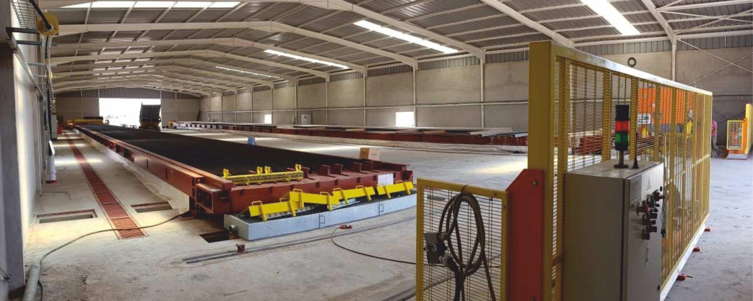Производственная линия бетонные преднапряженные столбики для винограда