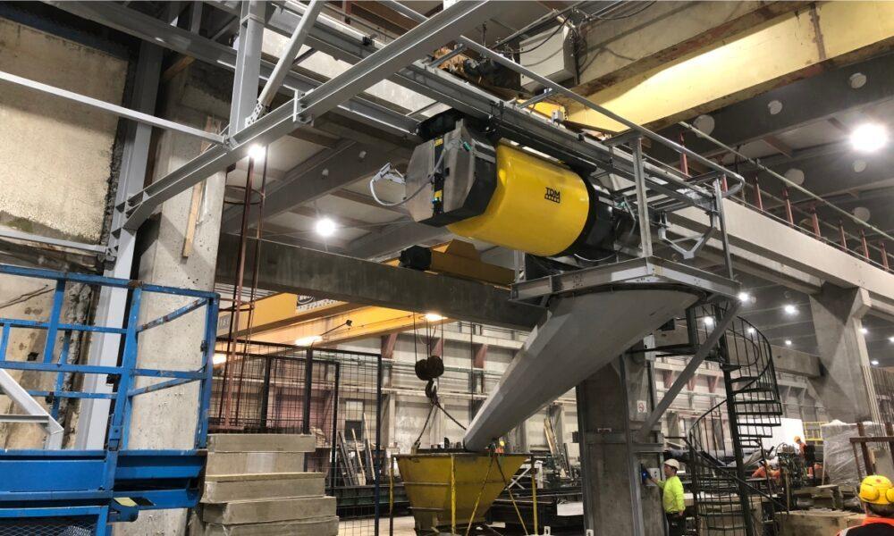 Адресная подача бетона для производства бетонных изделий