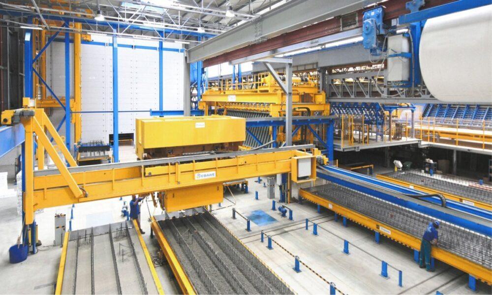 Комплексные линии для производства бетонных изделий