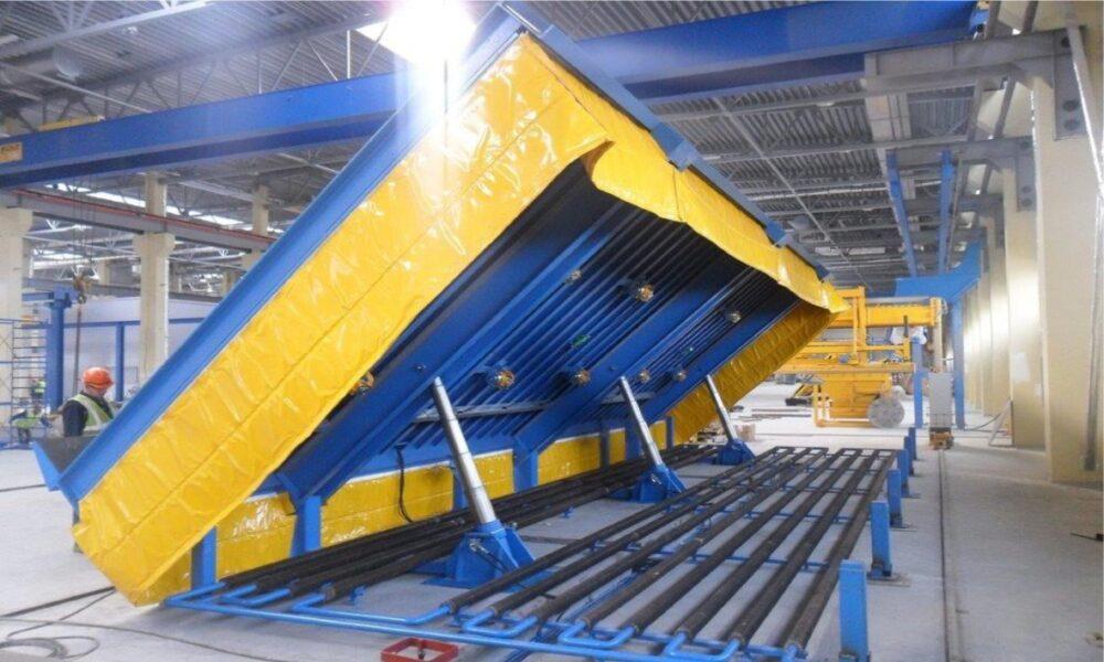 Поворотные столы для производства бетонных изделий