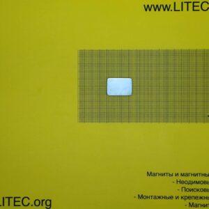 Неодімовий магніт блок N38M W34*L24*h4.95 мм
