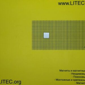 Неодимовый магнит блок N42M W19*L19*5 мм
