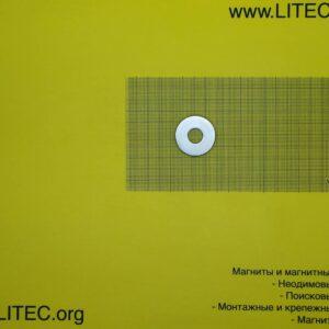 Неодимовый магнит кольцо N38 D35*d12,5*h5 мм