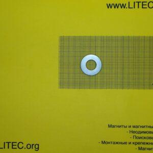 Неодимовый магнит кольцо N38 D39.5*d18.5*h5 мм