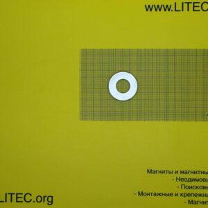 Неодимовый магнит кольцо N38 D40*d18,5*h6 мм