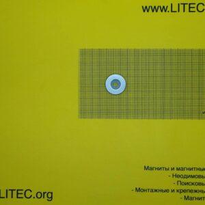 Неодимовый магнит кольцо с потаем N38 D29*d6,5-13,5*h5 мм