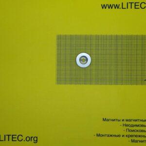 Неодімовий магніт кільце з потаєм N38 D30*d6,5-12,5*h5 мм