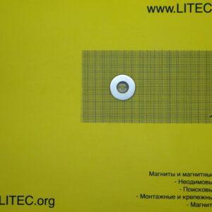 Неодимовый магнит кольцо с потаем N38 D35*d6,5-12.5*h5 мм