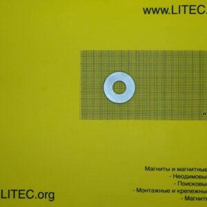 Неодимовый магнит кольцо N38 D44.5*d18.5*h5 мм