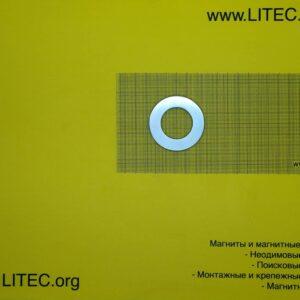 Неодимовый магнит кольцо N38 D54.5*d30.5*h5 мм
