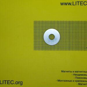 Неодимовый магнит кольцо N38 D55*d18,5*h7 мм