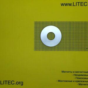 Неодимовый магнит кольцо N38 D70*d25.5*h9 мм