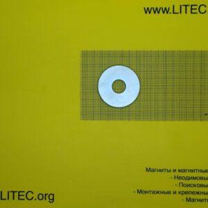 Неодимовый магнит кольцо N38 D90*d50*h5 мм