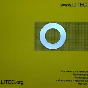 Неодимовый магнит кольцо N38M D59*d18,5*h6 мм