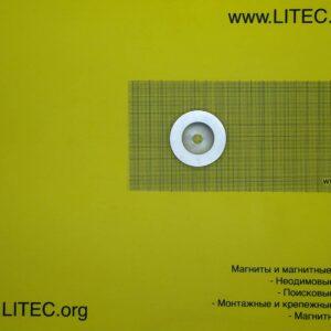 Неодимовый магнит кольцо с потаем N38 D50*d8,5-16.5*h10 мм