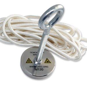 Пошуковий магніт односторонній М120 D67*М10*h14 мм
