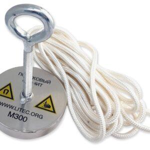 Поисковый магнит односторонний М300 D95*М10*h20 мм