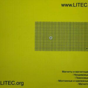 Неодимовый магнит кольцо с потаем N38 D10*d3,5-6,5*h3 мм