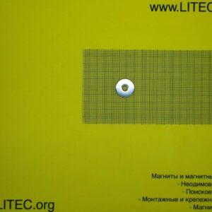 Неодімовий магніт кільце з потаєм N38 D25*d4,5-8,6*h3 мм