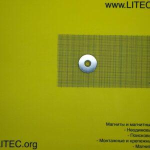 Неодимовый магнит кольцо с потаем N38 D35*d6,5-12*h6 мм