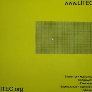 Неодімовий магніт шайба N38 D5*h1 мм