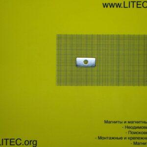 Неодимовый магнит блок с отверстием N42M d8,2*W37*L18*h5* мм Zn