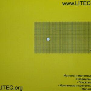 Неодімовий магніт шайба N38 D10*h3 мм