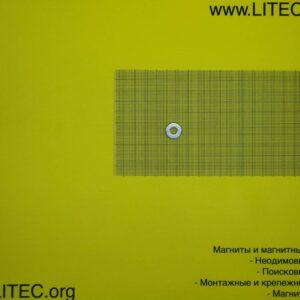 Неодимовый магнит кольцо N38 D15*d6*h6 мм