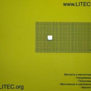 Неодімовий магніт блок N38 W15*L15*h5 мм