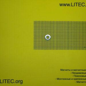 Неодімовий магніт кільце N38 D20*d10*h3 мм