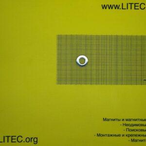 Неодимовый магнит кольцо N38 D23*d12*h5 мм