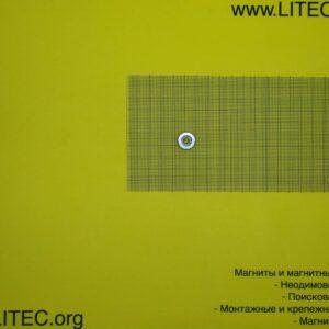 Неодимовый магнит кольцо с потаем N38 D15*d4,5-8,6*h5 мм