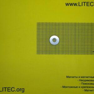 Неодимовый магнит кольцо с потаем N38 D30*d6,5-12*h5 мм