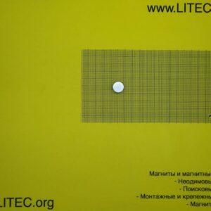 Неодімовий магніт шайба N38 D12*h2 мм