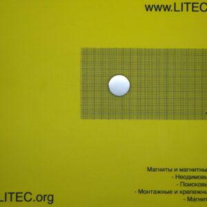 Неодимовый магнит шайба N38 D30*h3 мм