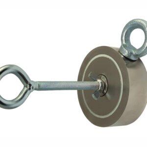 Поисковый магнит двусторонний 2М150 D75*М10*h28 мм
