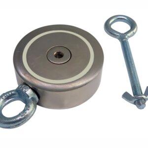 Пошуковий магніт двосторонній 2М300 D95*М10*h32 мм