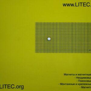Неодимовый магнит шайба N38 D10*h10 мм